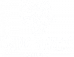 Rising Blazers logo white