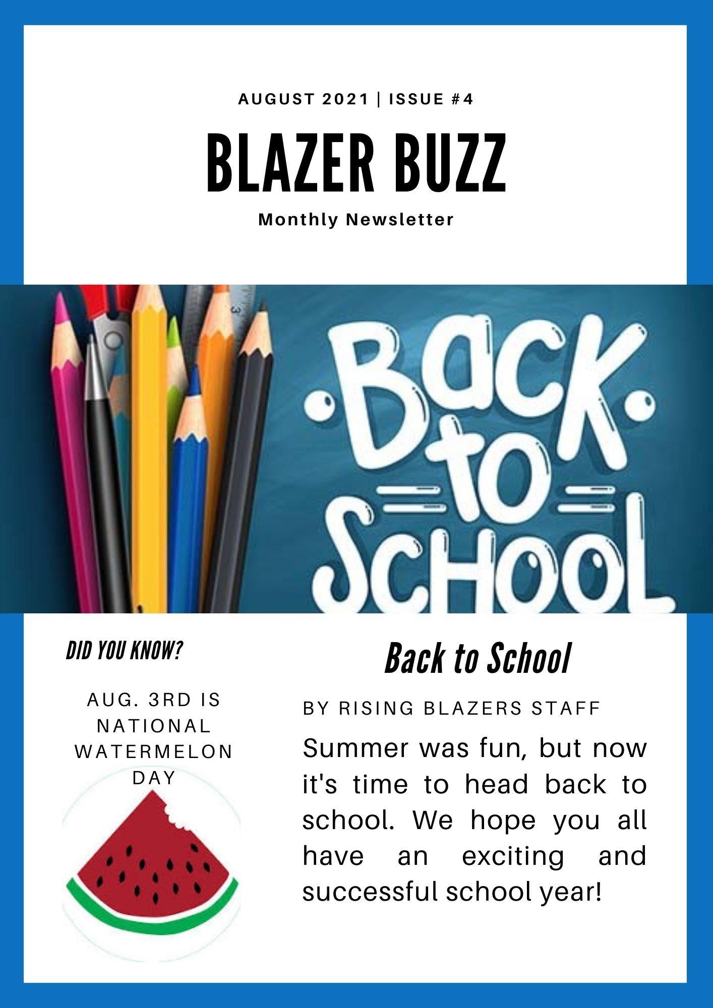 Blazer Buzz August Issue