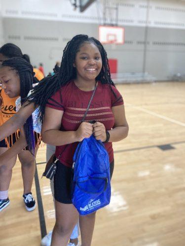 Rising Blazers YMCA Dallas Park South girl smiling